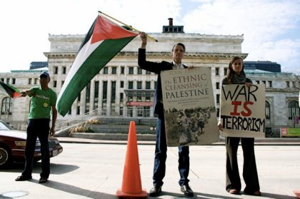 Protesters against Israeli Apartheid